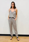 Powder Linen Jog Pant
