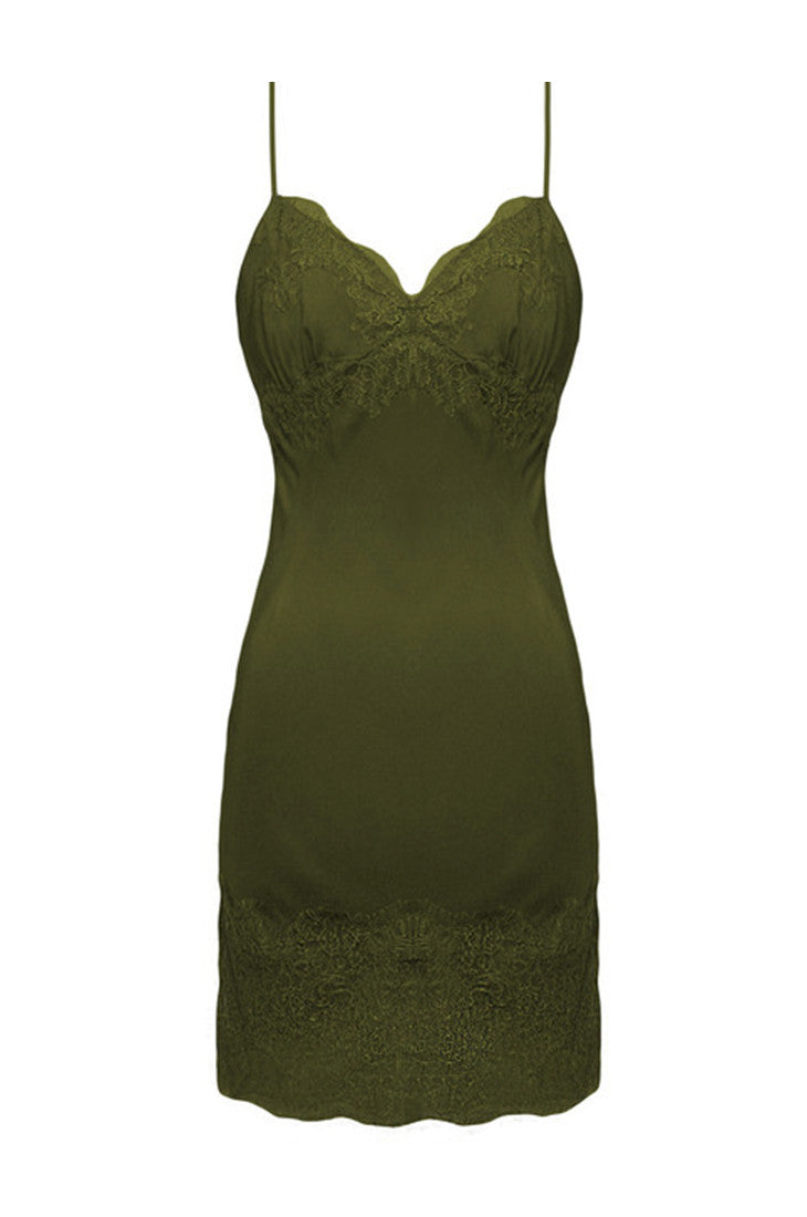 Vintage Lace Silk Slip Dress
