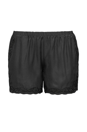 The Classic Lace Modern Silk Shorts in pewter grey.