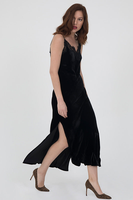 Velvet Coco Lace Long Slip Dress