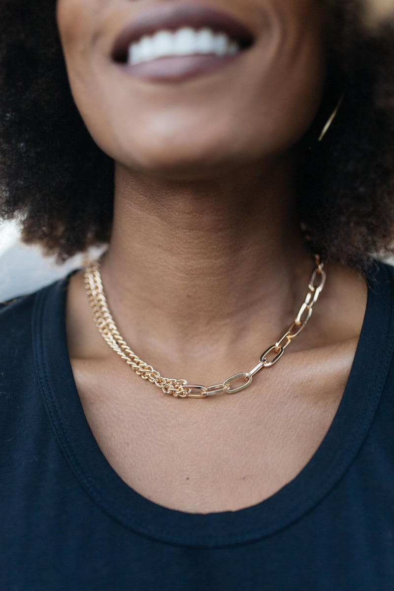Bound By Chains Gold Necklace