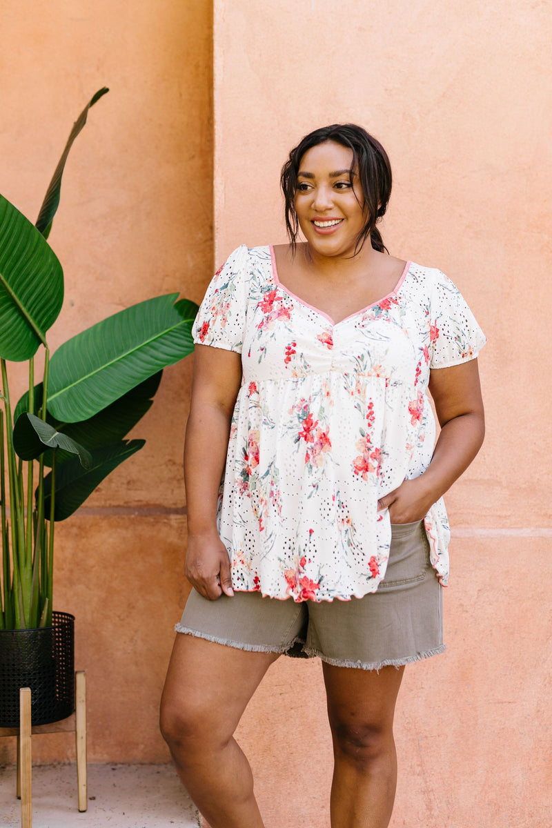 You're A Sweetheart Floral Top - Amaranth Collection