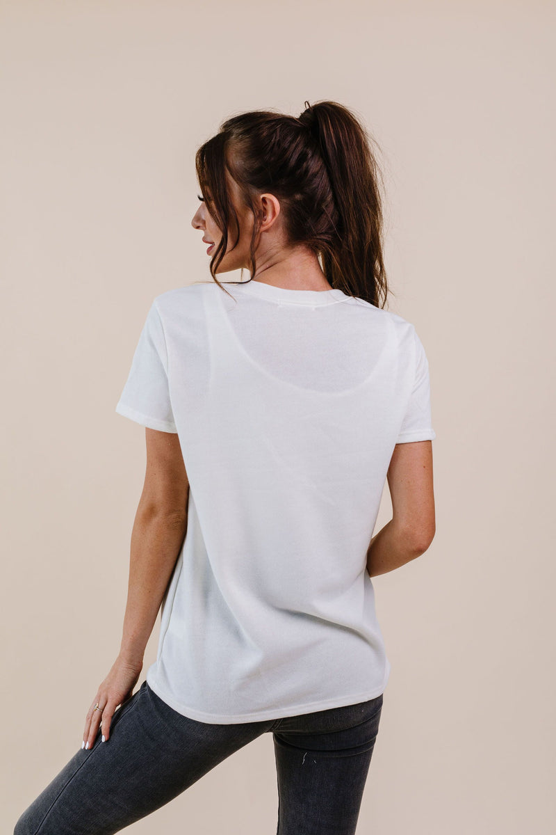 To Lounge Or Bike Top In Ivory - Amaranth Collection