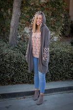 Cashmere and Sherpa Cardigan