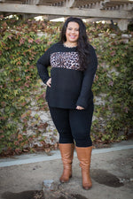 Divine Intervention Black Waffle Knit Top
