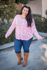 Pretty In Pink Waffle Knit Top