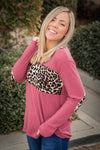 Divine Intervention Mauve Waffle Knit Top