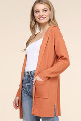 Copper Hooded Cardigan