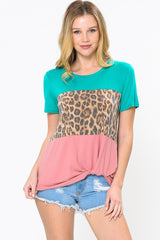 Living On the Wild Side Color Block Top