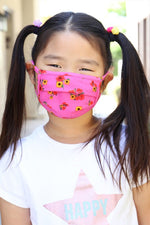 Hot Pink Floral Face Cover (CHILD)