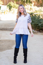 Sandy Tropics Peplum Top