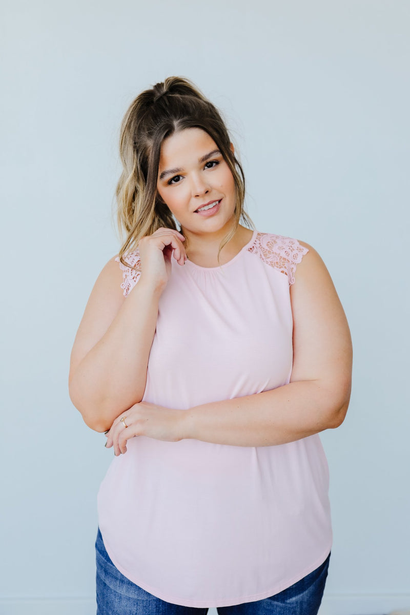 A Little Goes A Long Way Top In Blush - Amaranth Collection