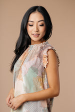 Abstract Floral Lineup Pastel Blouse - Amaranth Collection