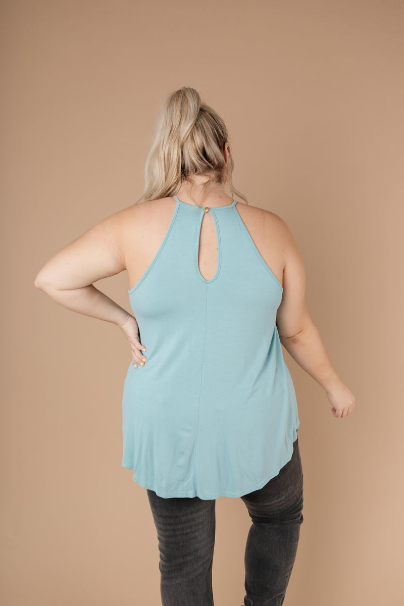 Just For Show Top In Aqua - Amaranth Collection