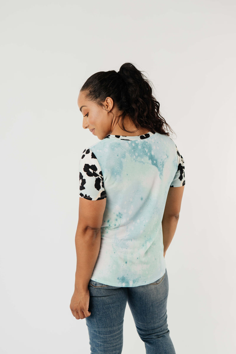 Another Tie Dye Animal Top - Amaranth Collection