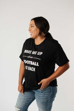 Wake Me Up When Football Is Back Graphic Tee - Amaranth Collection