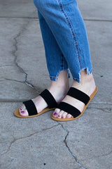 Waterfront Black Strap Sandal