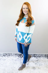 Geometric Multicolor Sweater
