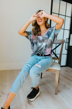 Breakthrough Tie Dye Top - Amaranth Collection