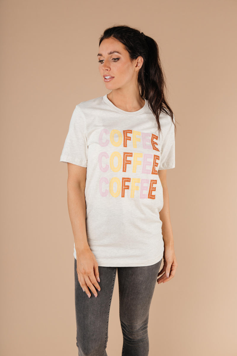 Caffeine Addiction Graphic Tee - Amaranth Collection