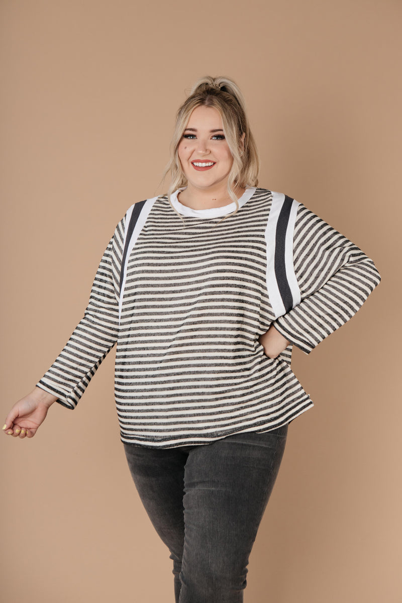 Double Trouble Striped Top - Amaranth Collection