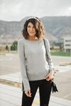 Elvira Hole In One Heather Gray Sweater