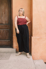 Eyelet You Know Camisole In Burgundy - Amaranth Collection