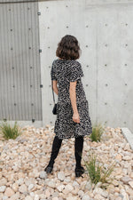 Fall Fancy Tiered Dress In Midnight
