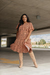 Fall Fancy Tiered Dress In Sunrise