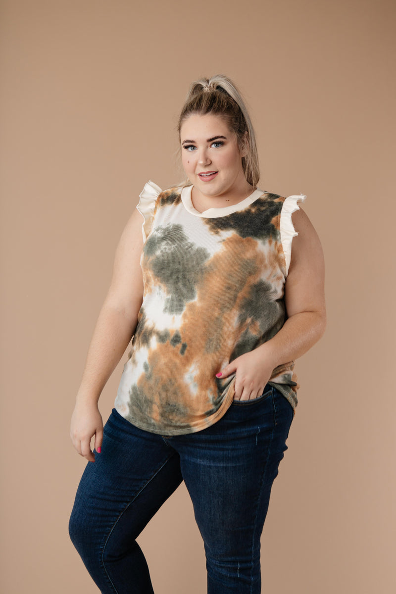 Falling Leaves Textured Tie Dye Top - Amaranth Collection
