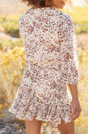 Fancy Me Floral Dress in Ivory
