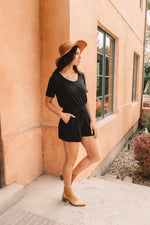 From Romp To Rest Romper In Black