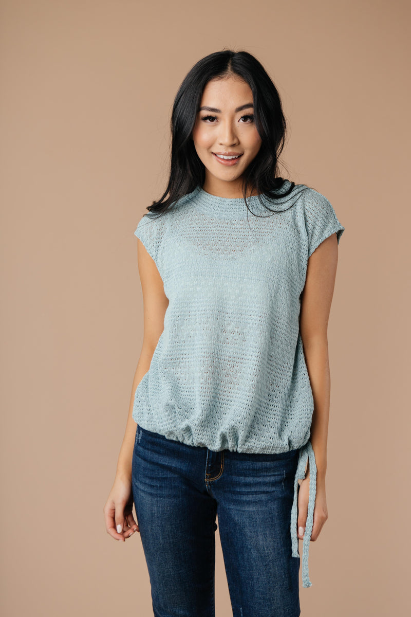 Girls Don't Sweat Sweater In Antique Blue - Amaranth Collection