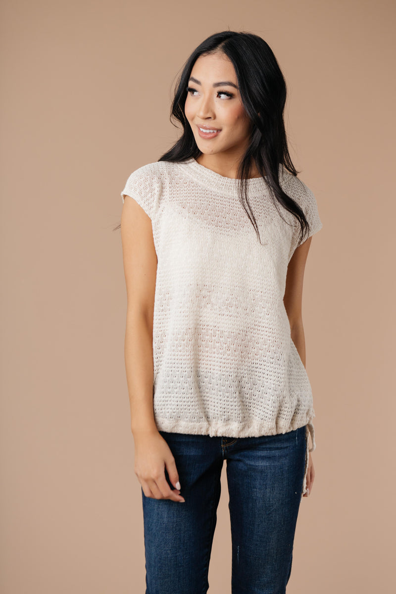 Girls Don't Sweat Sweater In Cream - Amaranth Collection