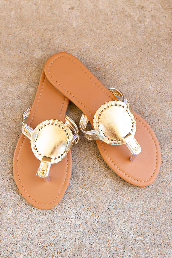 Summer Sunset Sandals - Gold
