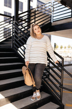 Golden Ticket Striped Sweater - Amaranth Collection