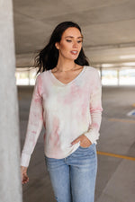 Heavenly Sweater In Pale Yellow & Pink - Amaranth Collection