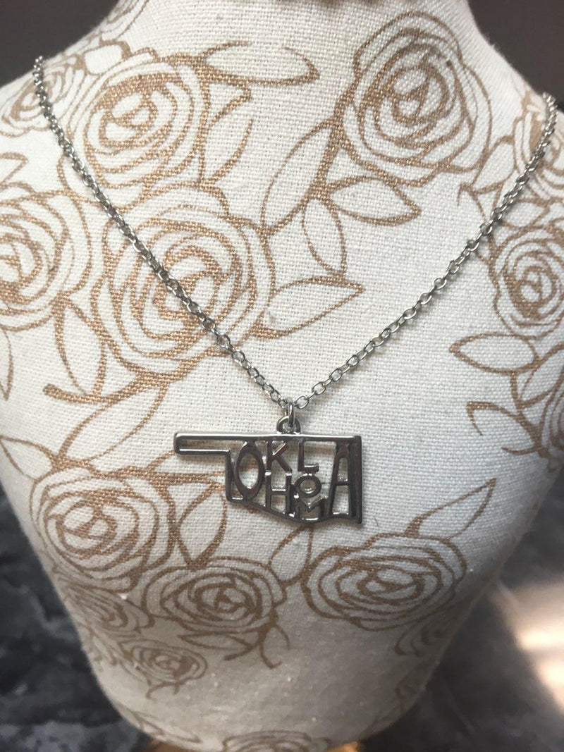 Oklahoma Lettering Necklace