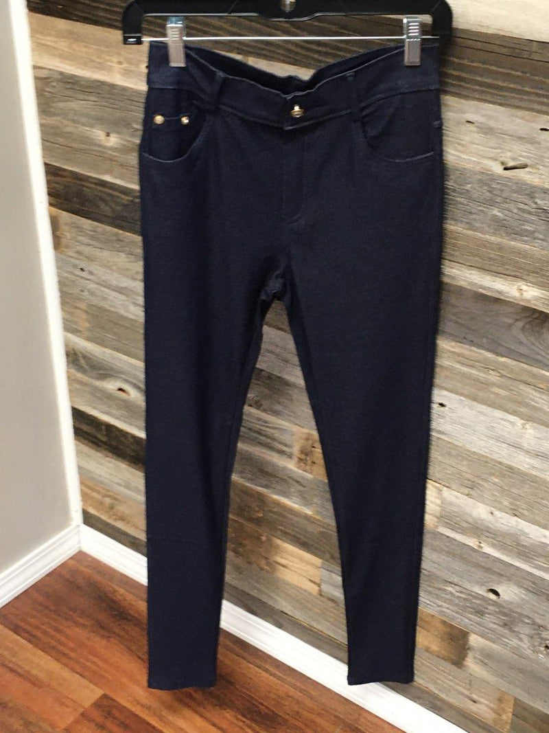 Dark Blue Denim Jegging