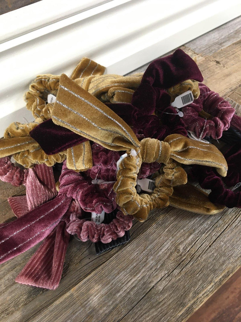 Assorted Velvet Tie Bow Scrunchies