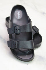Lennie Black Rubber Sandal
