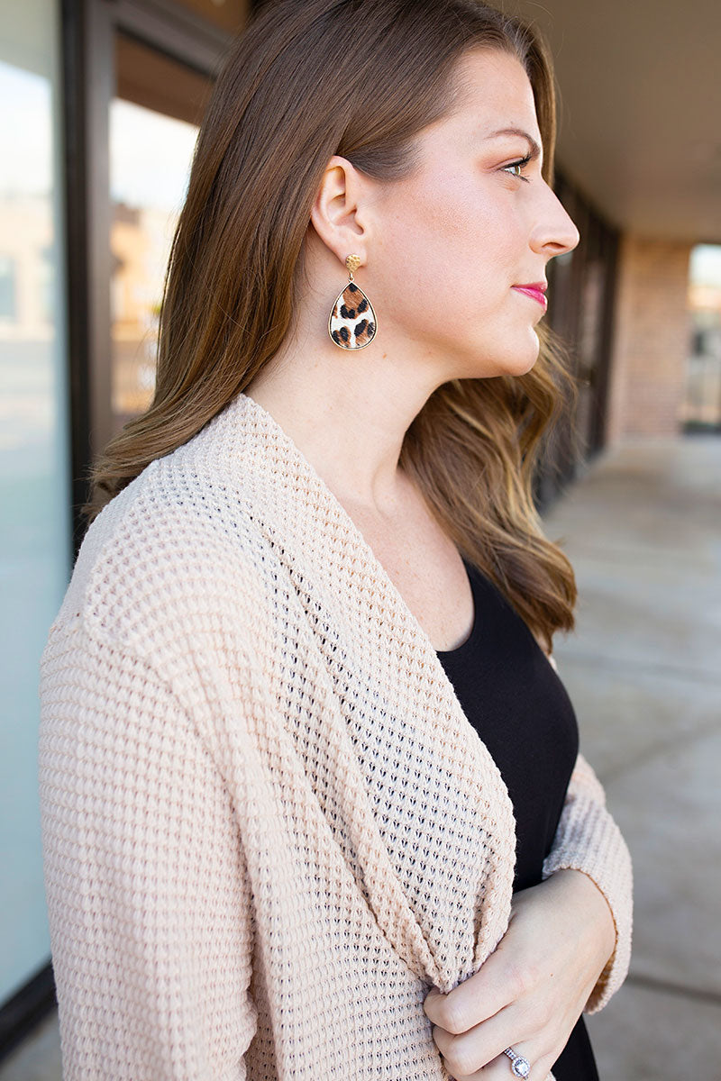 Ivory Textured Earrings
