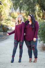 Everyday Long Sleeve Tee in Burgundy