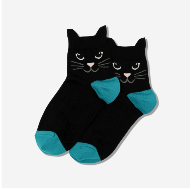 Black Ears Ankle Socks