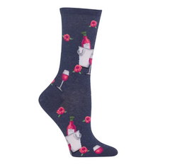 Rose All Day Crew Socks