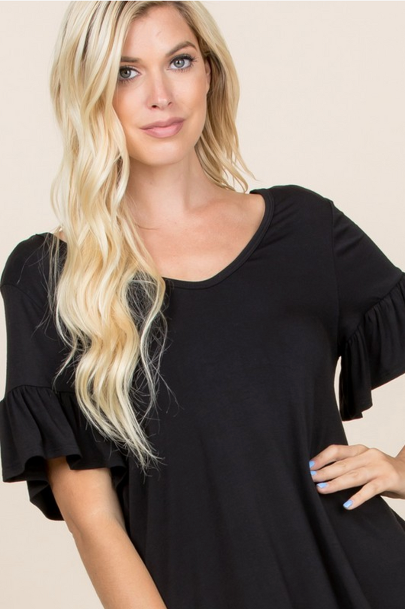 Bows & Ruffles Modal Top