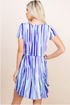 Waterfalls Short Sleeve Dress