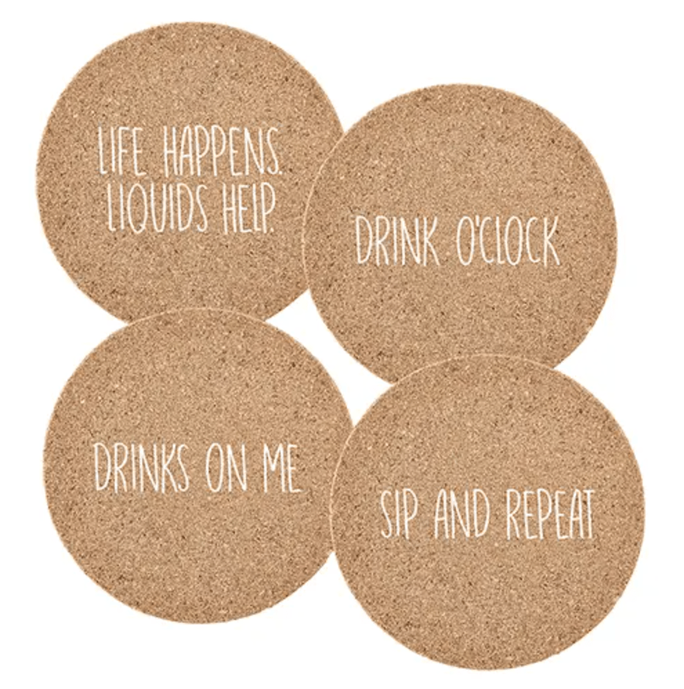Drinks Assorted Cork Coasters - Amaranth Collection