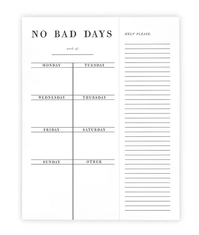 No Bad Days Weekly Planner - Amaranth Collection
