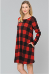 Told You So Red Plaid Dress